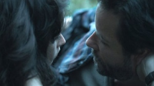 Felicity Jones and Guy Pearce in Breathe In
